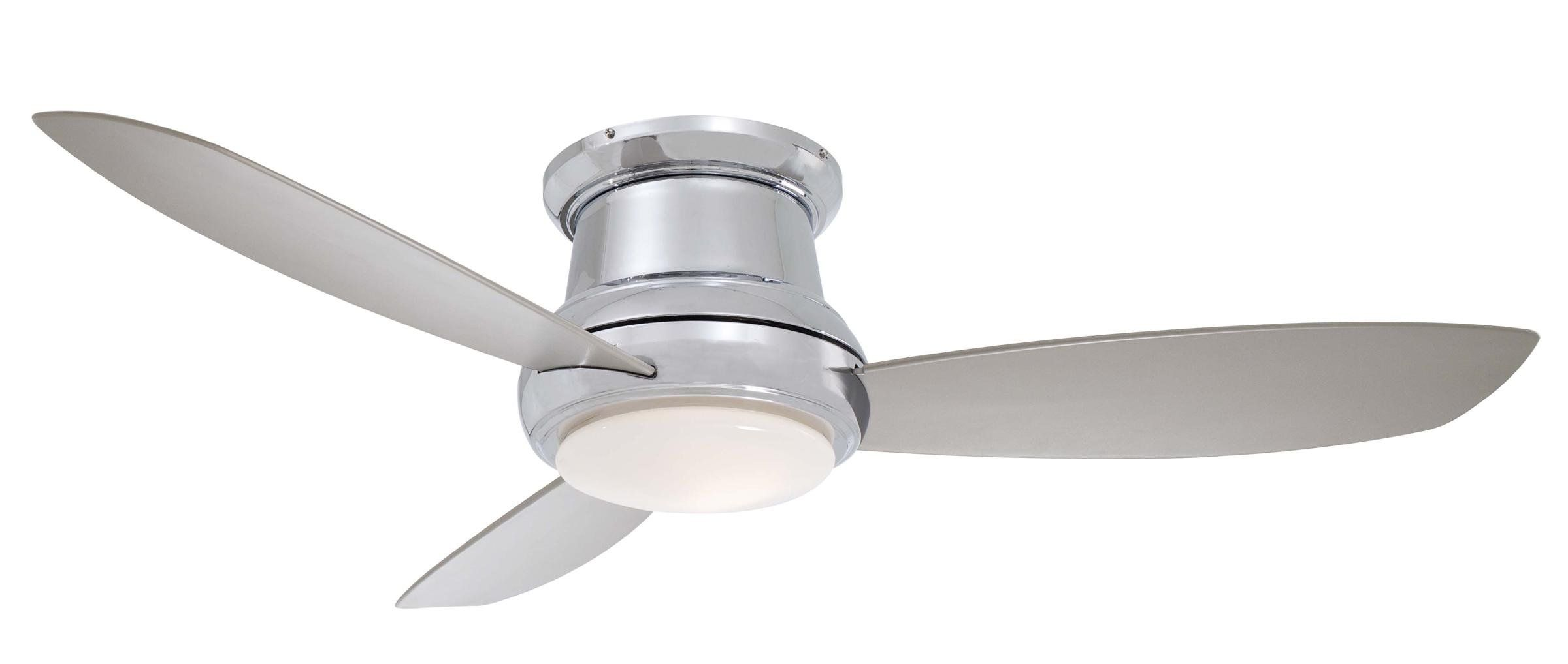 Minka Aire F518 Wh 44 Inch Concept Ii Flush Mount Ceiling Fan White With White Blades Amazon C Ceiling Fan Flush Mount Ceiling Fan Ceiling Fan With Remote