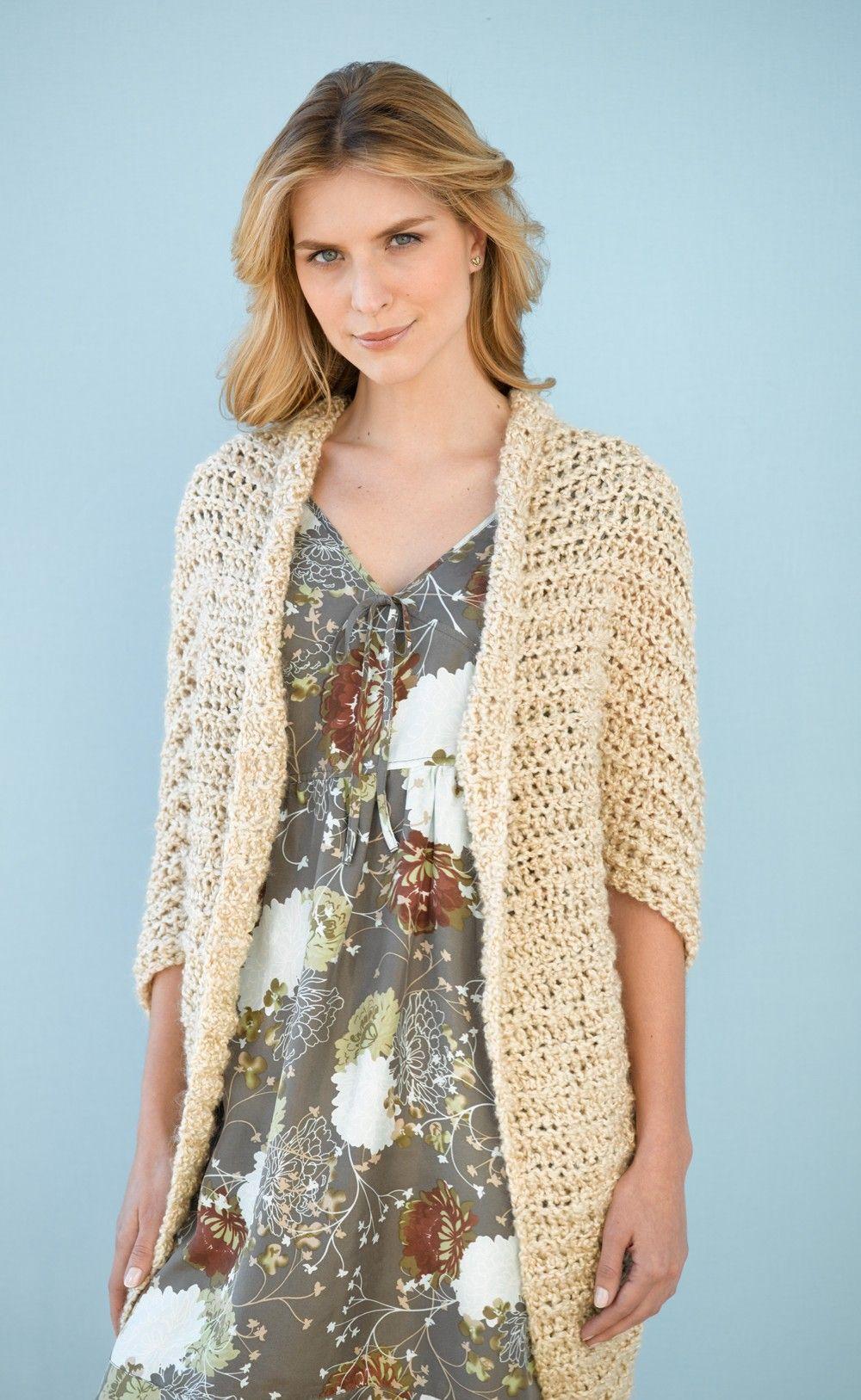 Simple Shrug Pattern Crochet Patterns Lion Brand Yarn Crafts