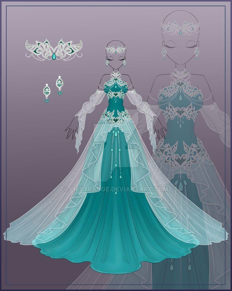 Princess Anime Outfits Dress Drawing