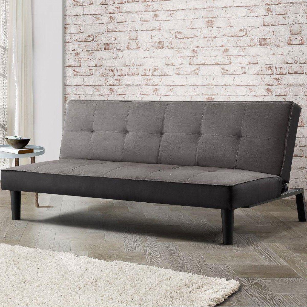 Aurora Grey Fabric Sofa Bed Minimalist Sofa Velvet Sofa Bed Sofa Bed