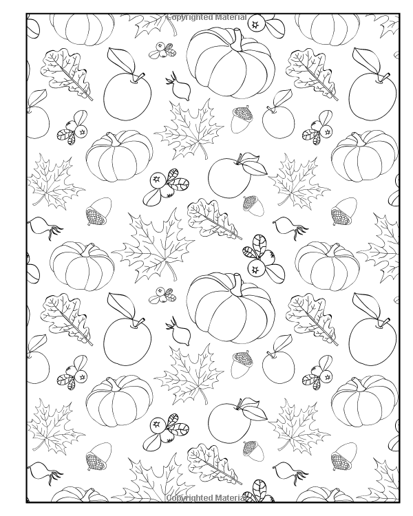 All About Autumn Coloring Book Double Pack (Volumes 1 & 2) (Art ...