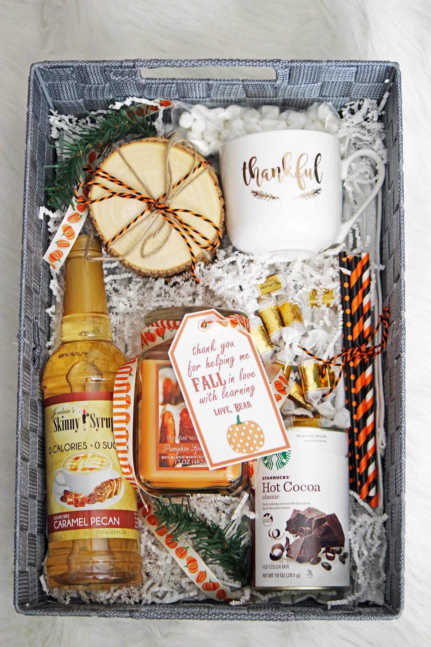 Diy fall gift basket fall gifts fall gift baskets