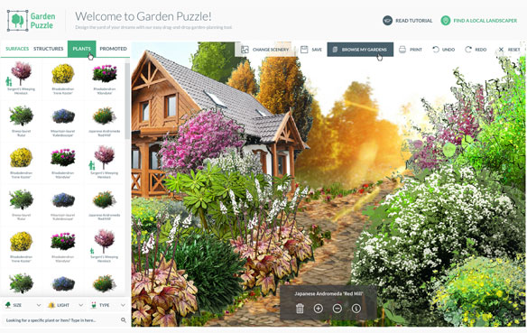Gardenpuzzle Online Garden Design App Landscape Design Software Free Landscape Design Software Garden Design Software