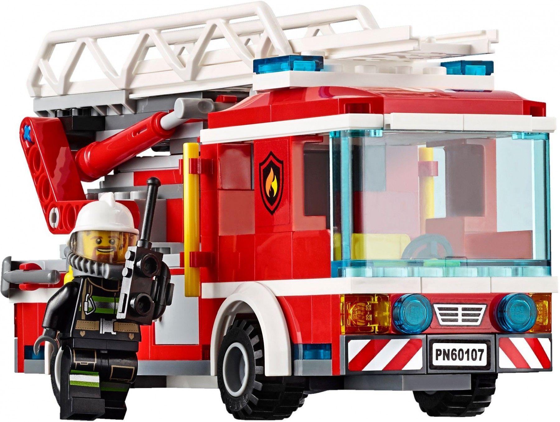 Lego City Brandweer Ladderwagen 60107 Lego City Lego Brandweer