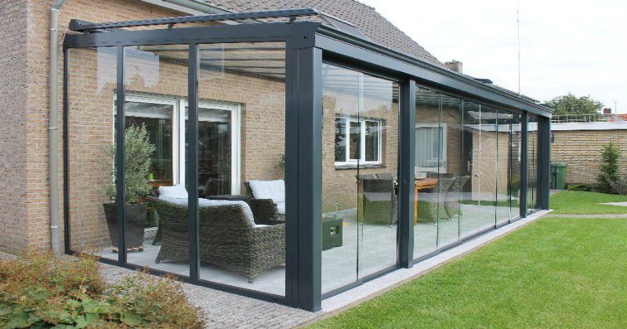 veranda k bah esi ada yap cam al minyum do rama. Black Bedroom Furniture Sets. Home Design Ideas