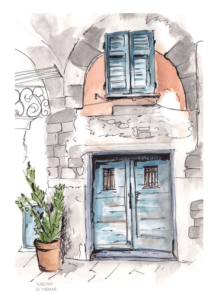 Tuscany Pen And Wash Ev Sketches Pen And Wash