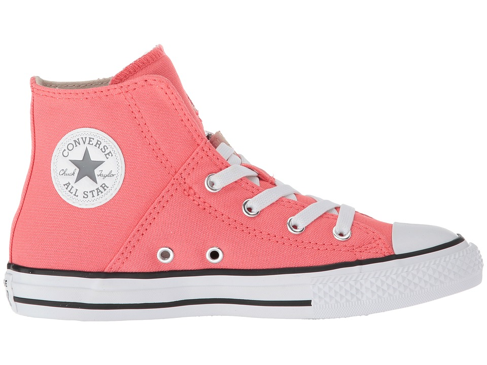 7a80d34fbf21 Converse Kids Chuck Taylor(r) All Star(r) Pull-Zip - Hi (Little Kid Big  Kid) Girl s Shoes Punch Coral Cool Grey White