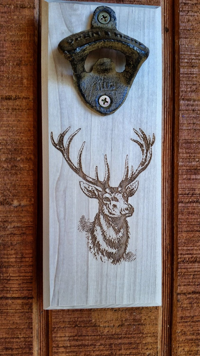 Deer wall mounted bottle opener by Barlic on Etsy https://www.etsy.com/listing/208220131/deer-wall-mounted-bottle-opener