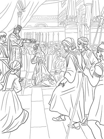 Esther Becomes a Queen coloring page from Queen Esther category ...