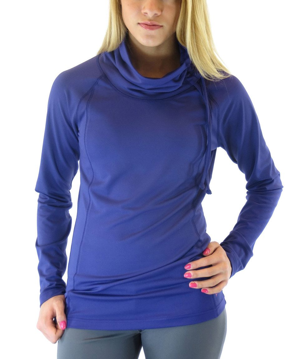 Ryka Blast Purple Endurance Cowl Neck Top - Women & Plus