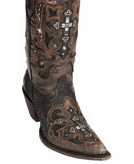 c14bfef92e4 Corral Crystal Cross Python Cowgirl Boots - Pointed Toe | Fab ...