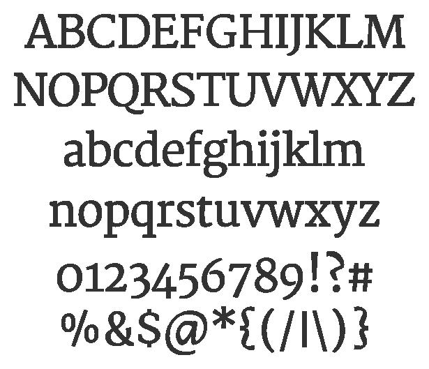 Merriweather | Alphabets fonts | Slab serif fonts, Text
