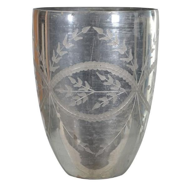 Coach House Small Etched Glass Vase