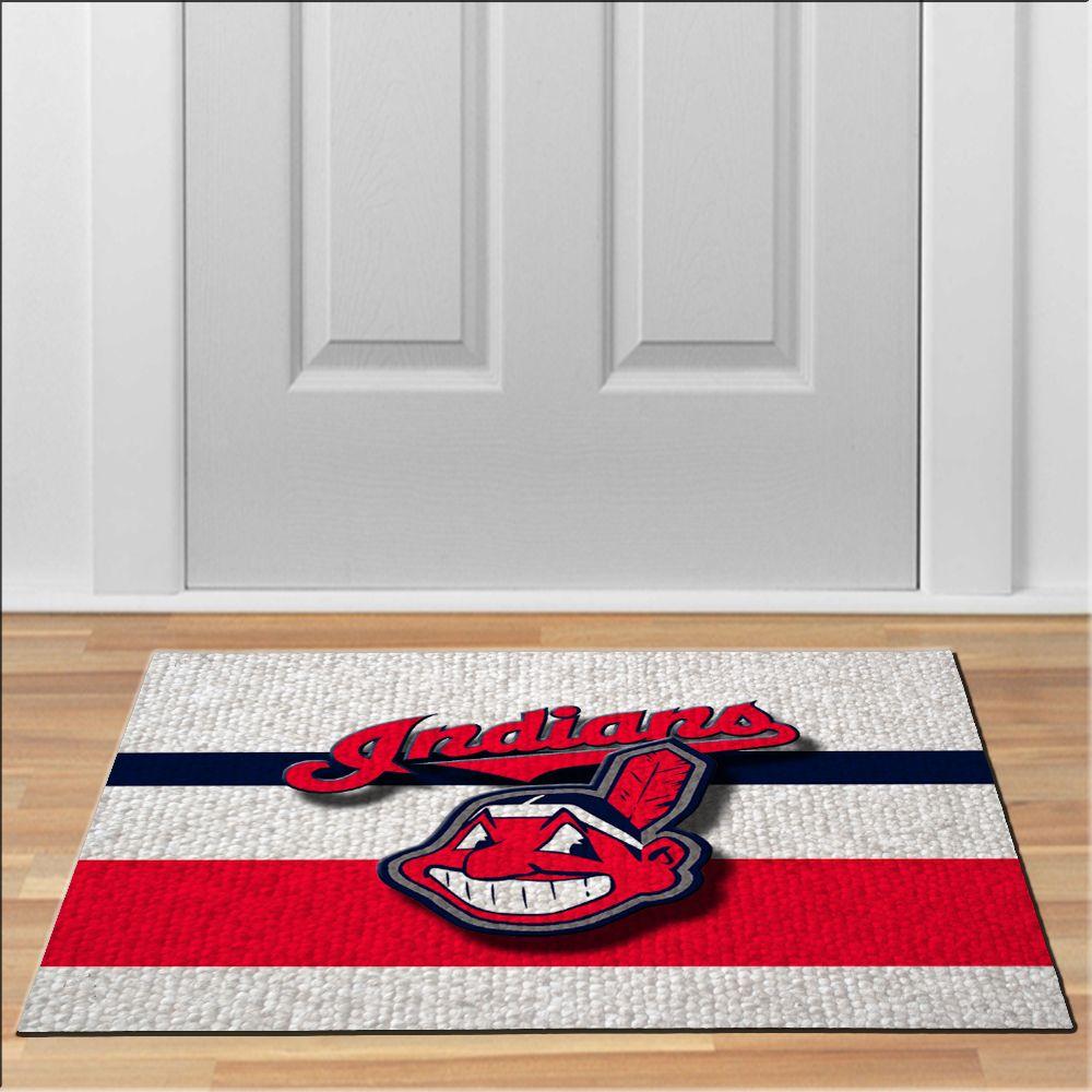 Nice Cleveland Indians Logo Mlb Baseball Floor Durable