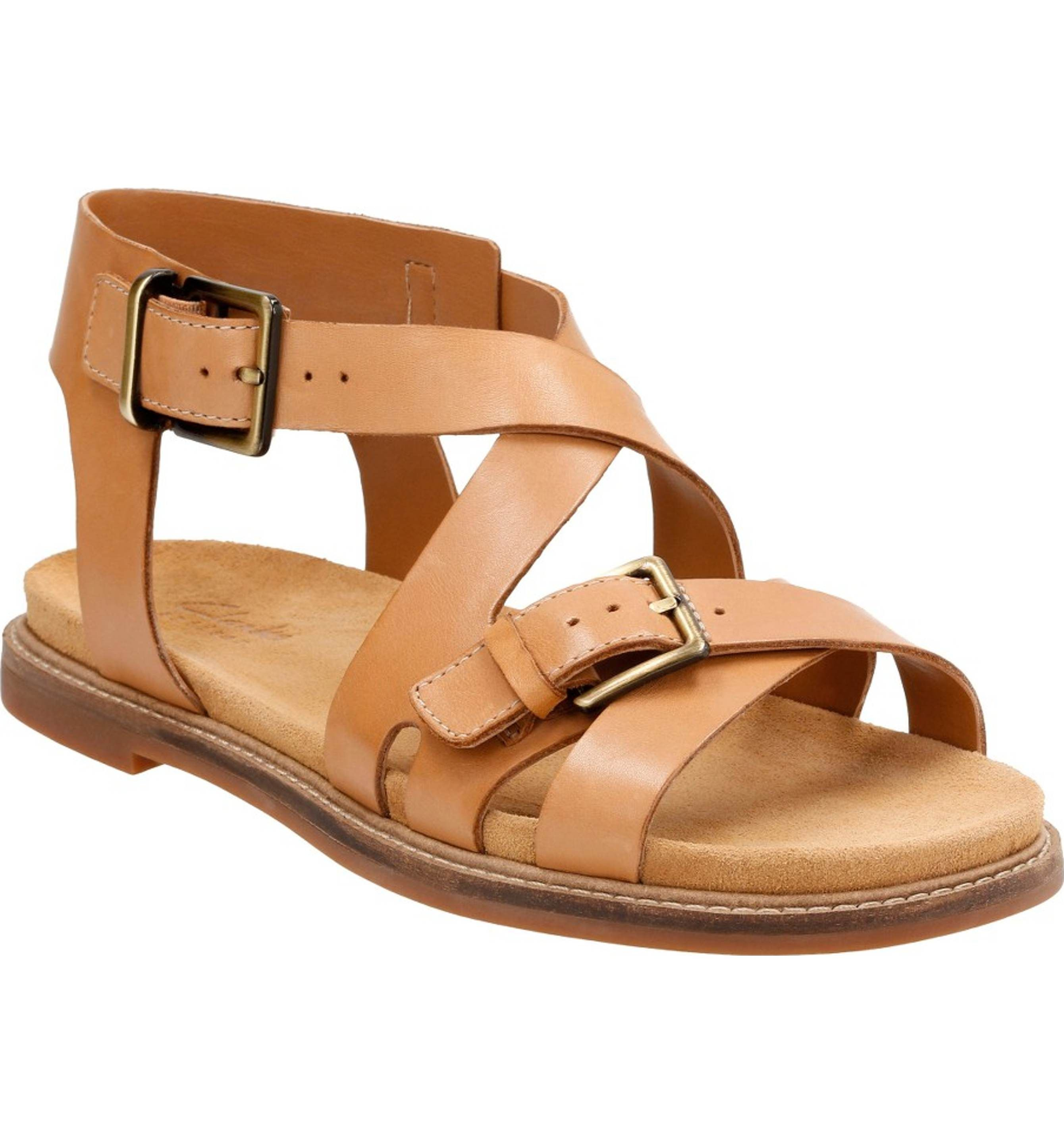 Cheap Clarks Corsio Bambi Leather Black Leather Sandals for Women Outlet
