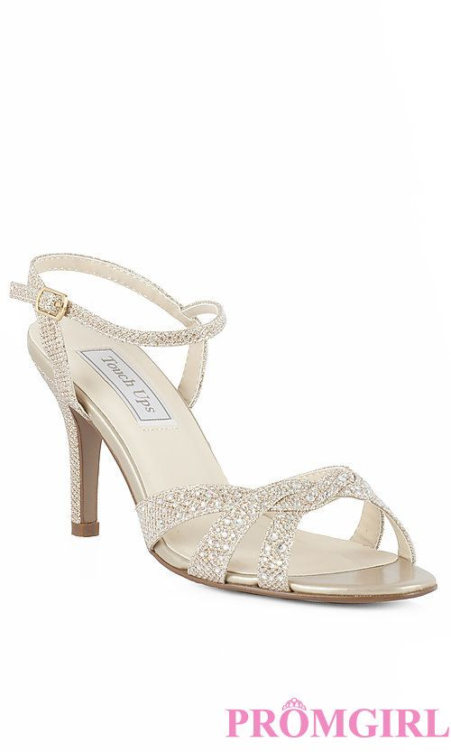 db37d496939 Open Toe Gold Prom Shoes with 2 5 8