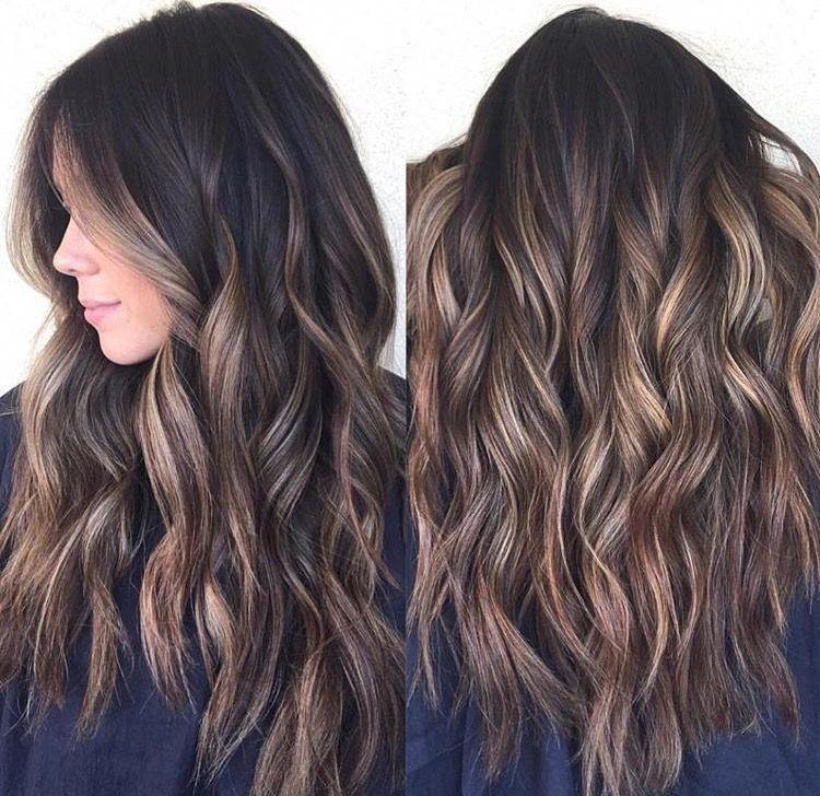 Brunette Ombre Long Hair Easy Beach Waves Easy Curls Long Hair Ideas Long Hairstyle Longhaircurls Hair Styles Hair Color Balayage Balayage Hair