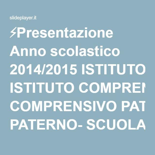 """⚡Presentazione Anno scolastico 2014/2015 ISTITUTO COMPRENSIVO PATERNO- SCUOLA PRIMARIA """"F.lli de Blasiis""""- classe 3^ B RIFLESSIONE LINGUISTICA A cura dell'insegnante:"""
