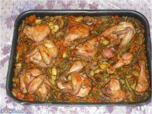 طاجن الدجاج بالخضار المشكل Cooking Baked Chicken Chicken