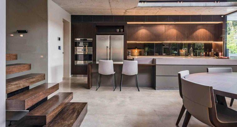 Sala Cucina Arredamento.Cucina Sala Da Pranzo Open Space Arredamento Moderno Color