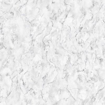 Graham & Brown Marble White and Grey Removable Wallpaper 104148 - The Home Depot