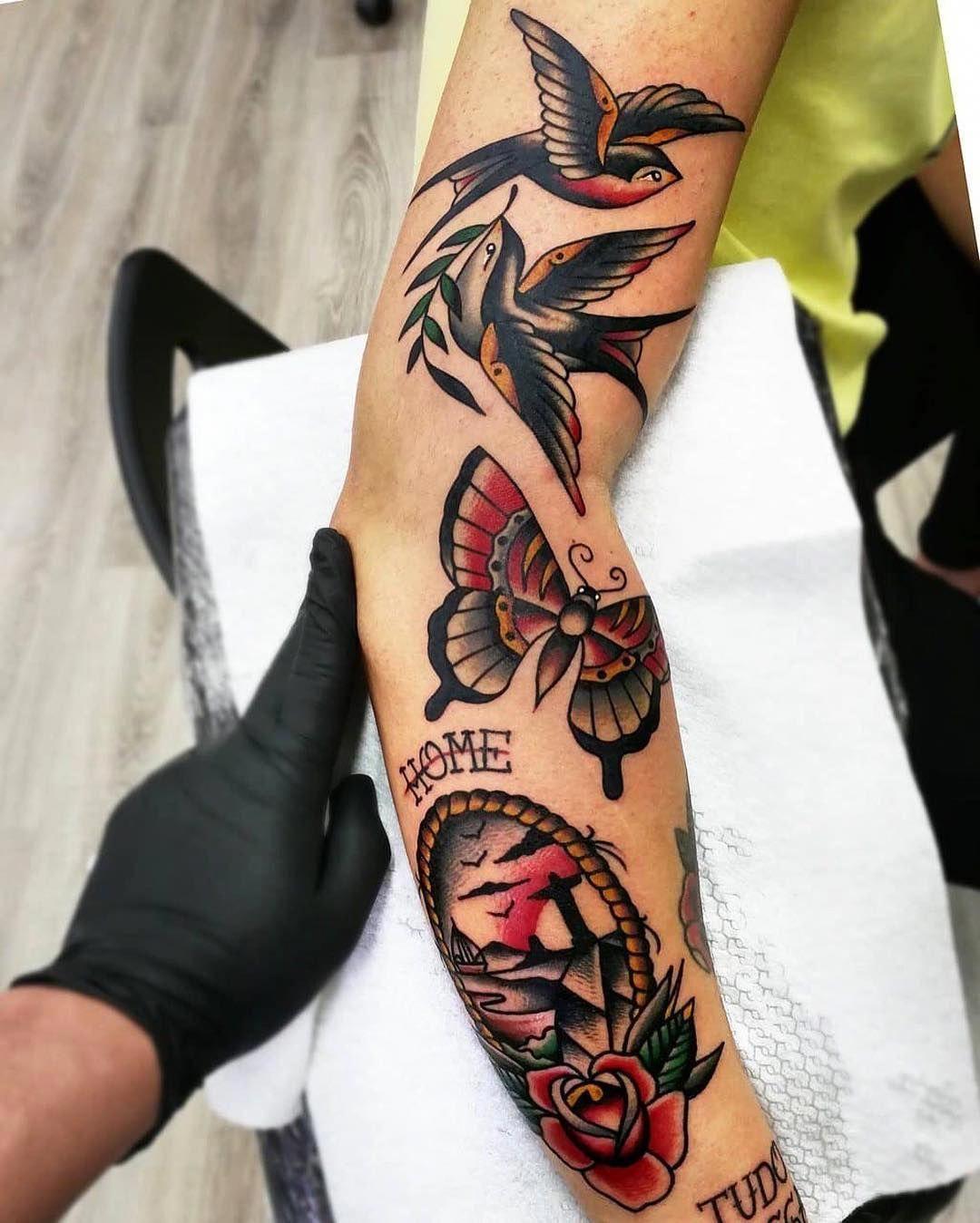Womens Tattoos Sleeve Sleevetattoos Traditional Tattoo Design Traditional Tattoo Old Tattoos
