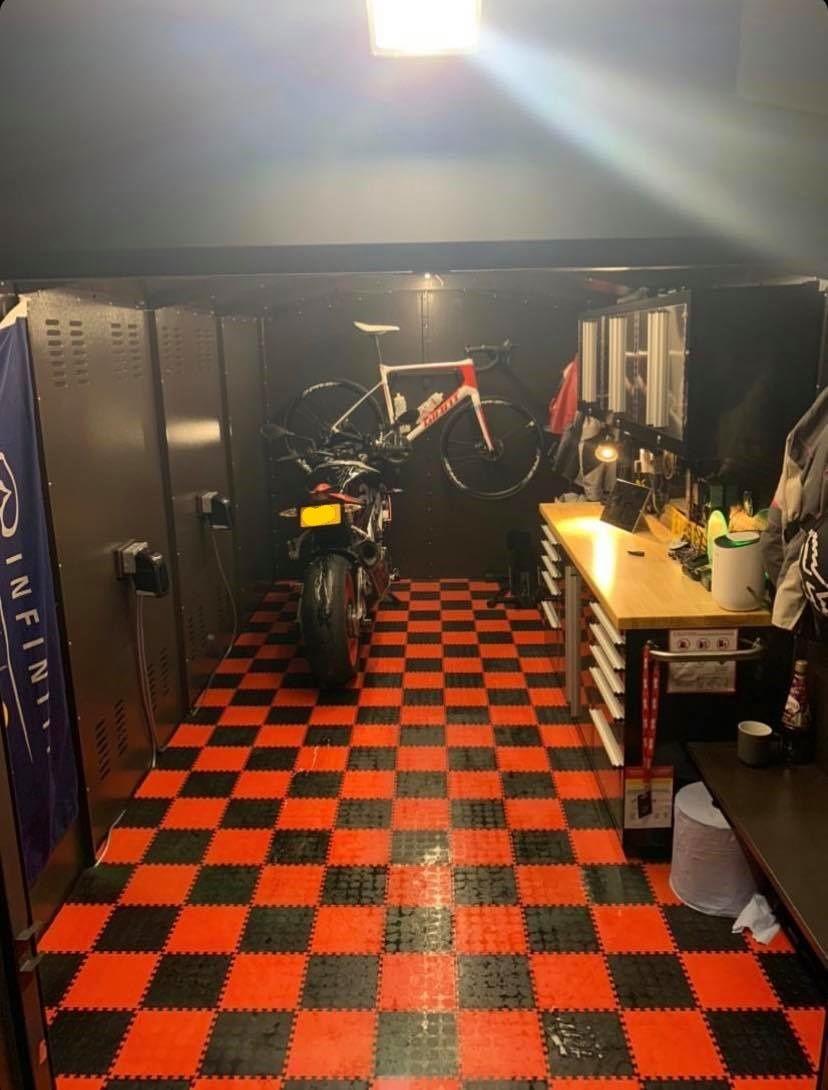 Motorbike Storage Garage 8ft 11 X 7ft 4 Metal Shed Motorbike
