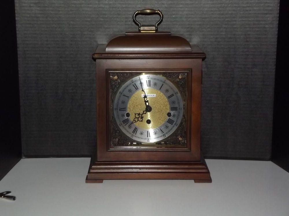 vintage howard miller barwick triple chime mantel clock model - Howard Miller Mantel Clock