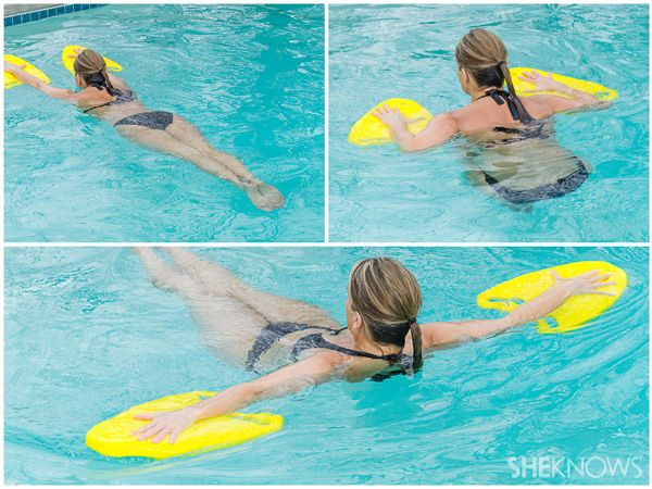 Jump In And Tone Up Pool Workout Exercise Pool Swimming Workout