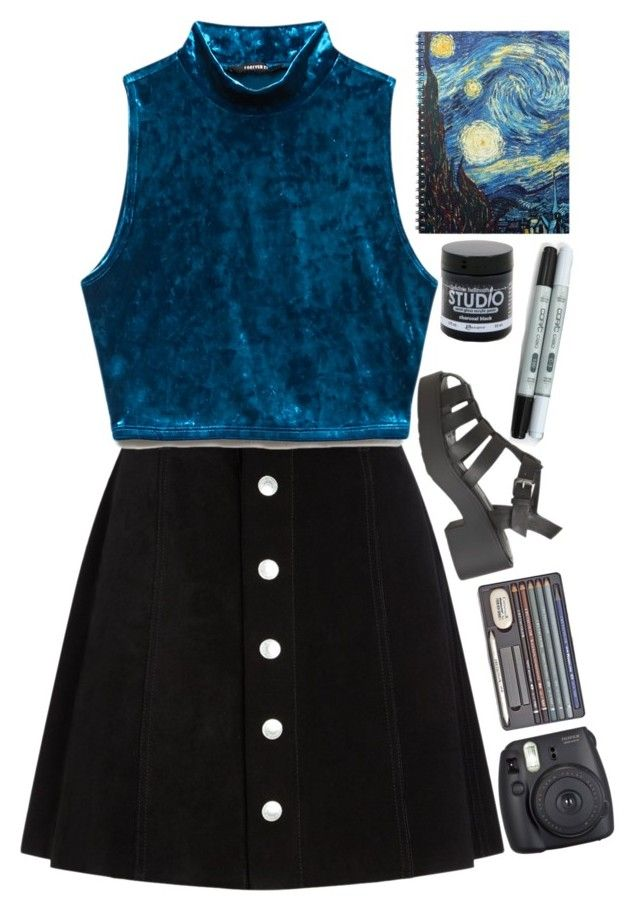 U0026quot;Art Hoe Aestheticu0026quot; By Hattiebrooks Liked On Polyvore Featuring AG Adriano Goldschmied Forever ...