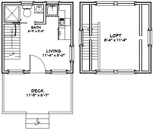 d063e12789631d28d0125aa28a05fd79 12x12 house w loft 12x12h2 260 sq ft excellent floor,12x12 Tiny House Plans