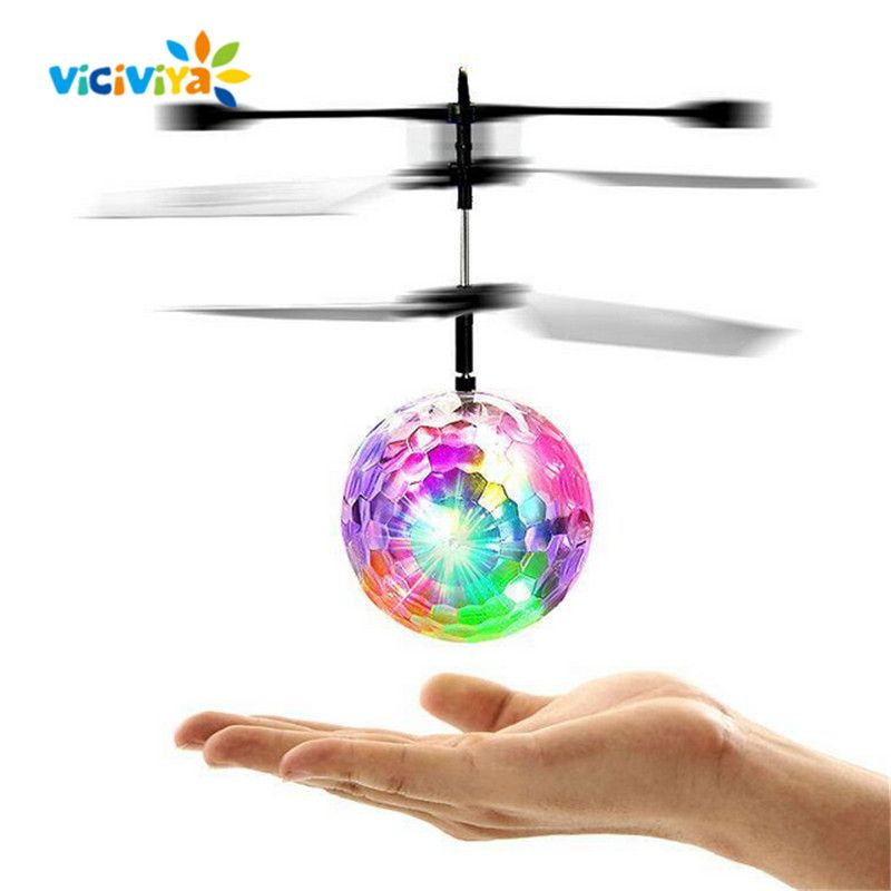 Mini Induction Suspension Flying Ball Helicopter Ball with Colorful LED Light Flying Toy Original