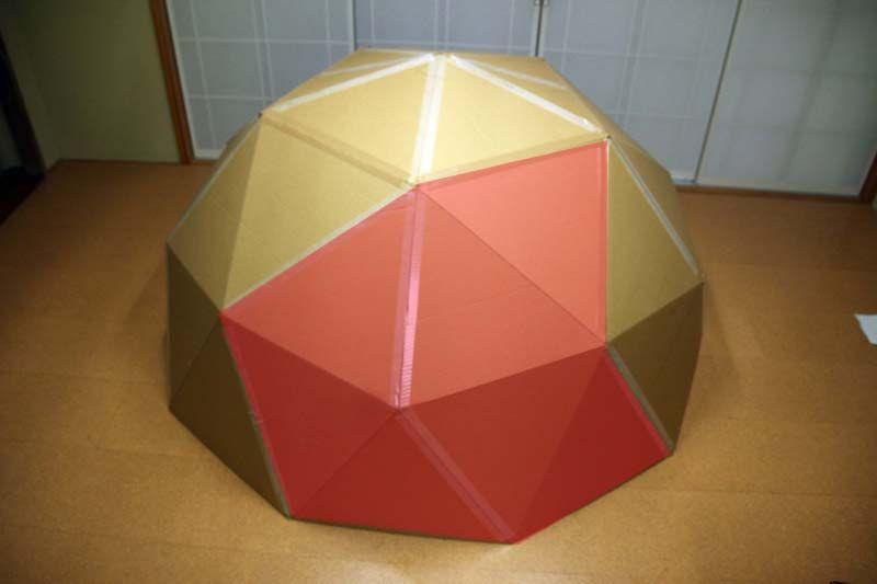 ダンボール製プラネタリウムの展開図 工作 子供 夏休み ダンボール