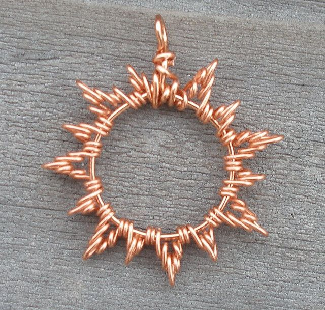 Photo of Copper Sun Pendant Prototype by ethorart, via Flickr  add a mother of pearl beze…