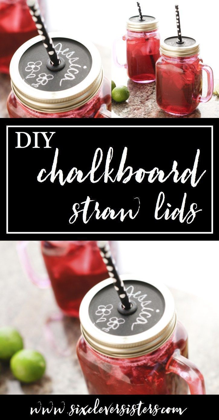Info's : This easy tutorial is on Six Clever Sisters-- find out how to make these diy chalkboard mason jar straw lids that make a great gift idea! It's an easy diy gift idea that everyone loves! Fun idea of how to use chalkboard paint! #mothersday #mothersdaygift #giftidea #diygift #diyinspiration #giftidea #diy #chalkboard #chalkboardpaint #mug #sixcleversisters