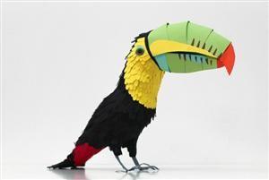 100 Beautiful Bird Sculptures Made Out Of Paper