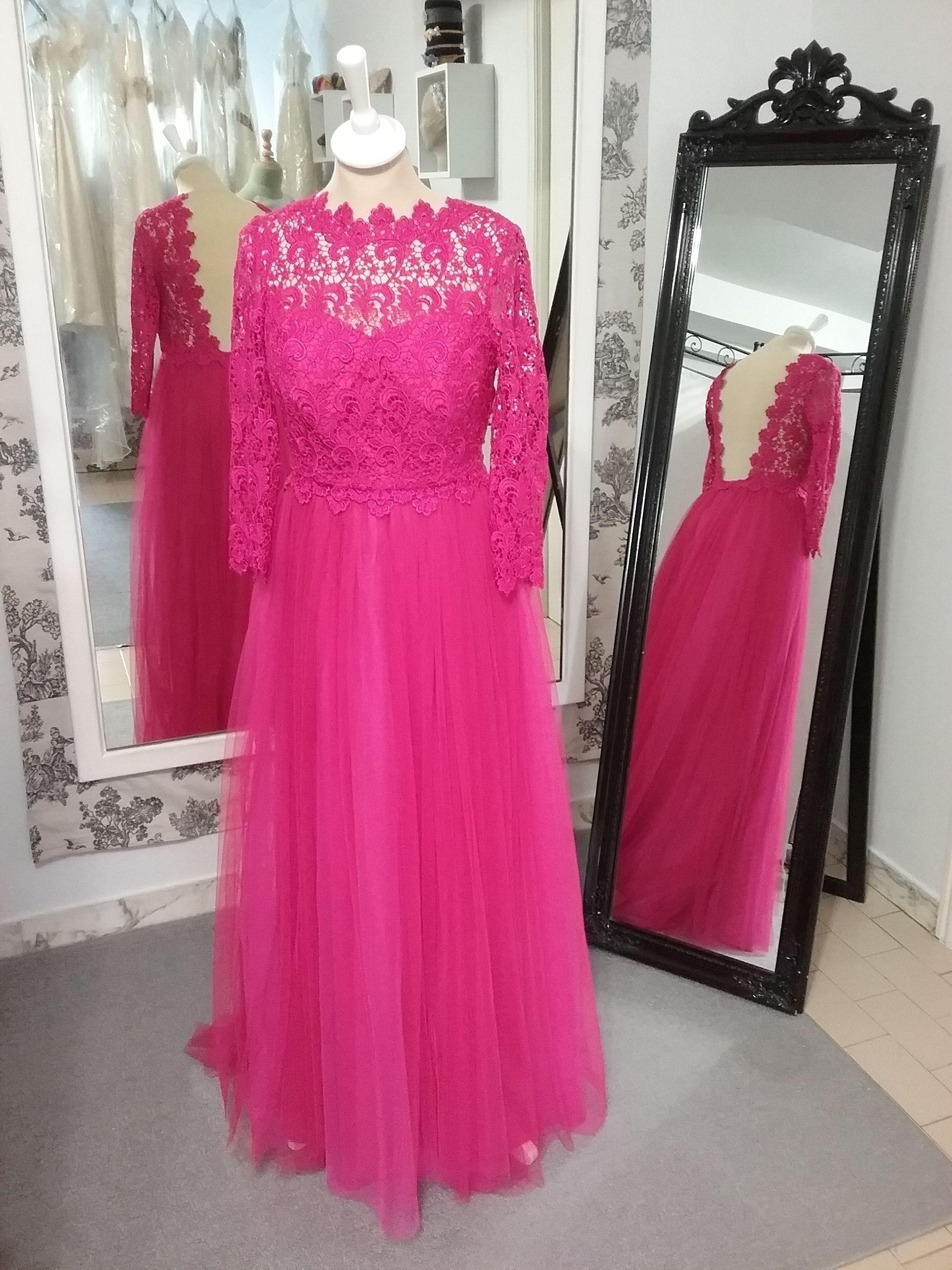 Vestido de dama de honor en guipur y tul   Costura en Atelier ...