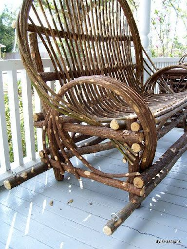 Twig Willow Porch Swing Hand Crafted Rustic By AmericanWillow