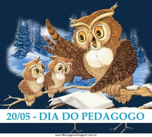 Mensagens Dia do Pedagogo | Simbolo da pedagogia, Dia do pedagogo ...