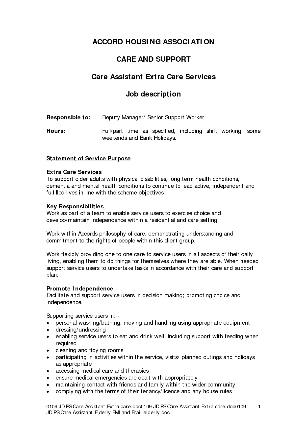 Sle Cv For Health Care Assistant Aide Resume Sales 28 Images Nursing