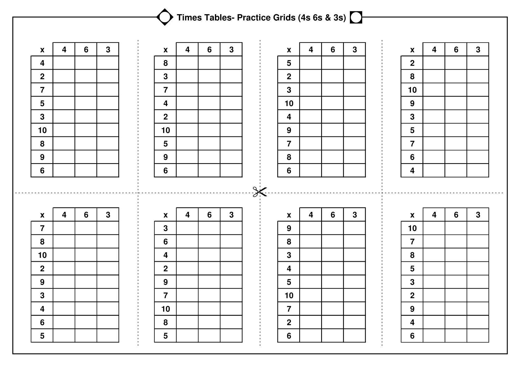 38 Multiplication Tables Practice Worksheets Free
