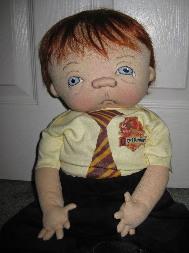 """Jan Shackelford OOAK 2012 Harry Potter Series Ron Weasley Baby Doll 21"""" CUTE!"""