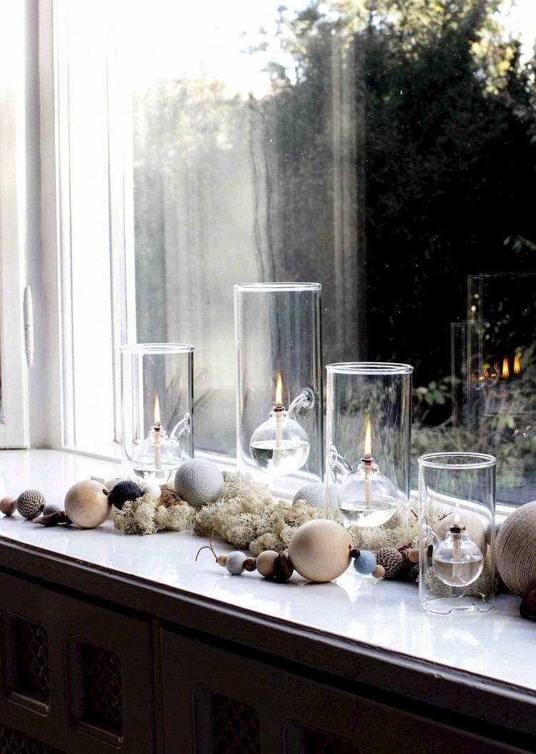adventskranz modern mit holzperlen und glaskolben gestalten weihnachten pinterest advent. Black Bedroom Furniture Sets. Home Design Ideas