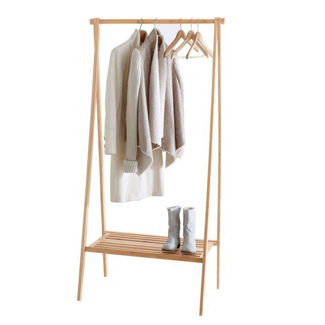 portant pliable avec étagère, bambou   la redoute interieurs, la