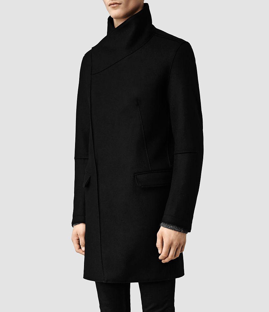 25decf08dda Nice asymmetric funnel collar men's coat (Allsaints FW14) | Men's ...