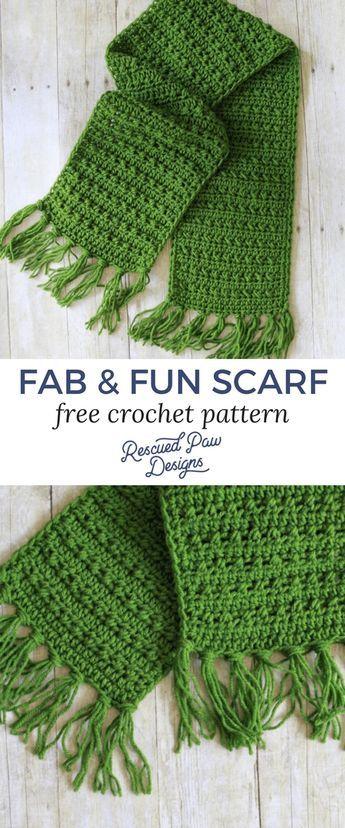 Fabulously Fall Fringe Scarf – Free Crochet Pattern -