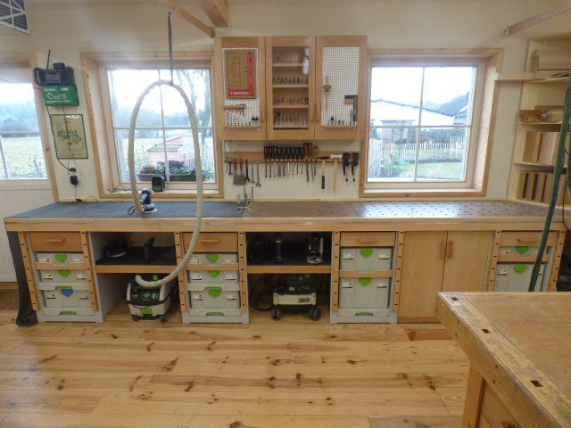 new sysport workbench and cabinets festool jigs and tool enhancements pinterest atelier. Black Bedroom Furniture Sets. Home Design Ideas