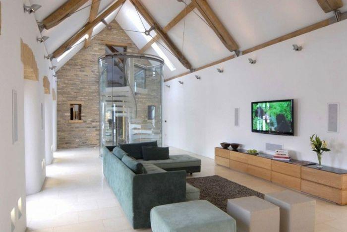 in den usa ist der scheune - look besonders angesagt   landhaus, Wohnzimmer dekoo