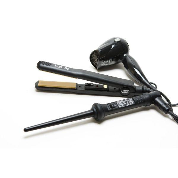 Set Full Black Secador + Plancha + Rizador