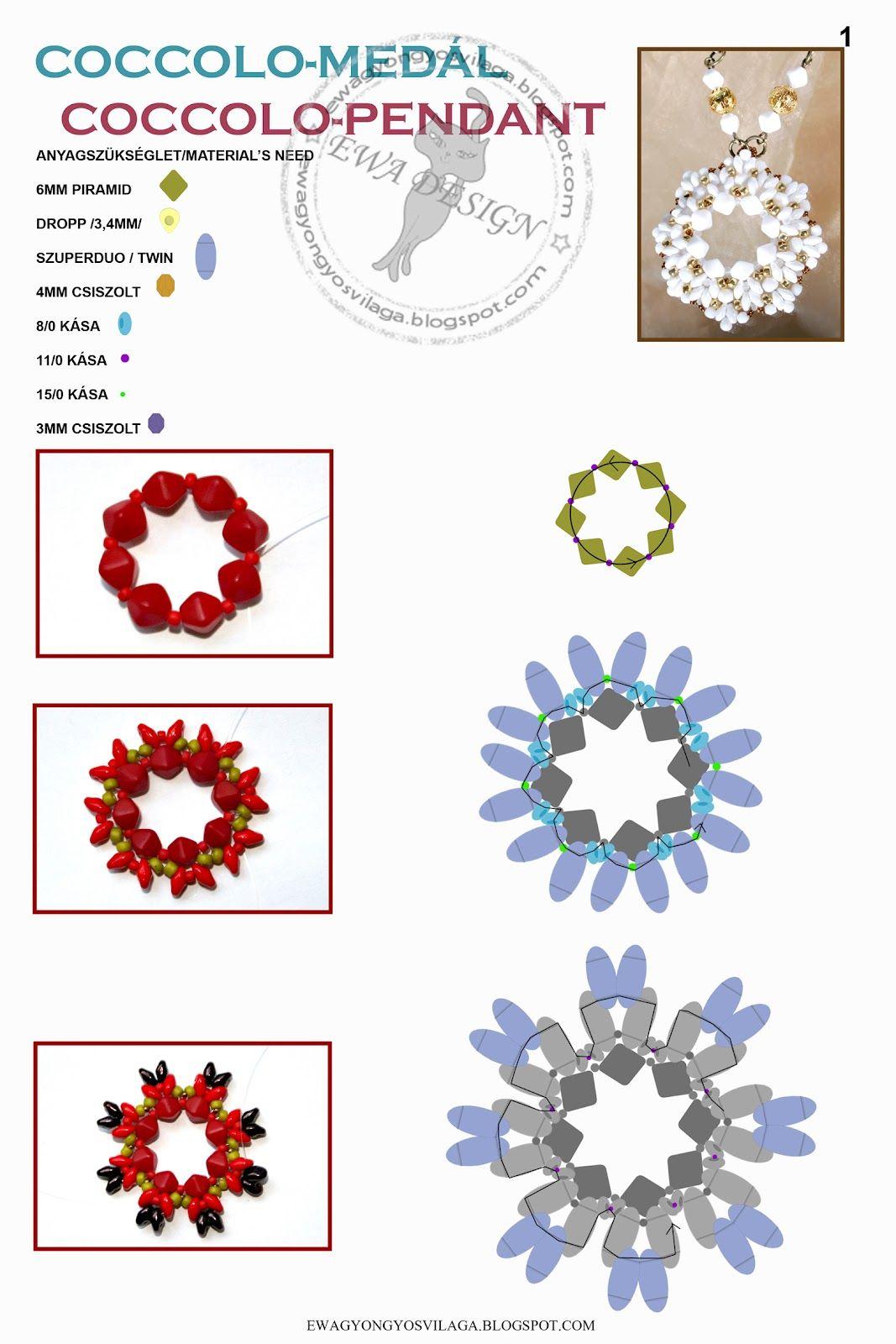 Free tutorial by diagram coccolo pendant pattern twin beads free tutorial by diagram coccolo pendant pattern twin beads pooptronica Image collections